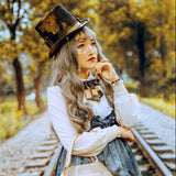 Retro Gear Steampunk Top Hat for Men/Women