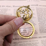 Retro Map Decorative Monocle Magnifier Pendant