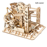 Kinetic DIY Marble Run Waterwheel Model Kits Lift coaster - Go Steampunk