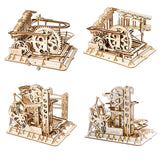 Kinetic DIY Marble Run Waterwheel Model Kits 4 Pieces - Go Steampunk
