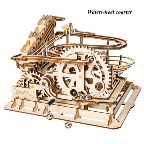 Kinetic DIY Marble Run Waterwheel Model Kits Waterwheel coaster - Go Steampunk