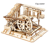 Kinetic DIY Marble Run Waterwheel Model Kits Cog coaster - Go Steampunk