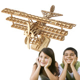 Laser Cut Wooden Airplane Model Building Kit