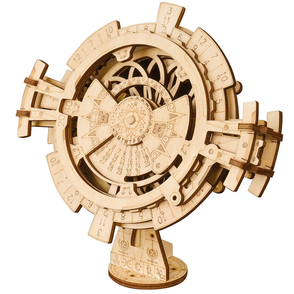 Perpetual Wooden Calendar Model Kit - Go Steampunk
