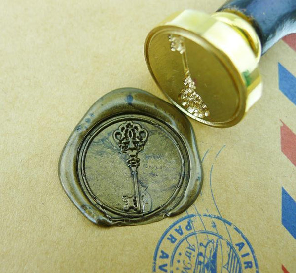 Vintage Key Brass Wax Seal Stamp