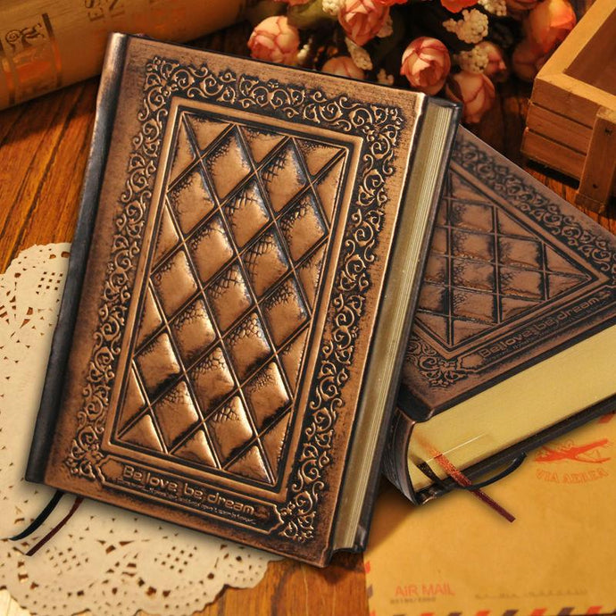Hard Cover Handmade Embossed Diary Notebook - Go Steampunk