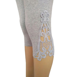 Lace decorated leggings - Go Steampunk