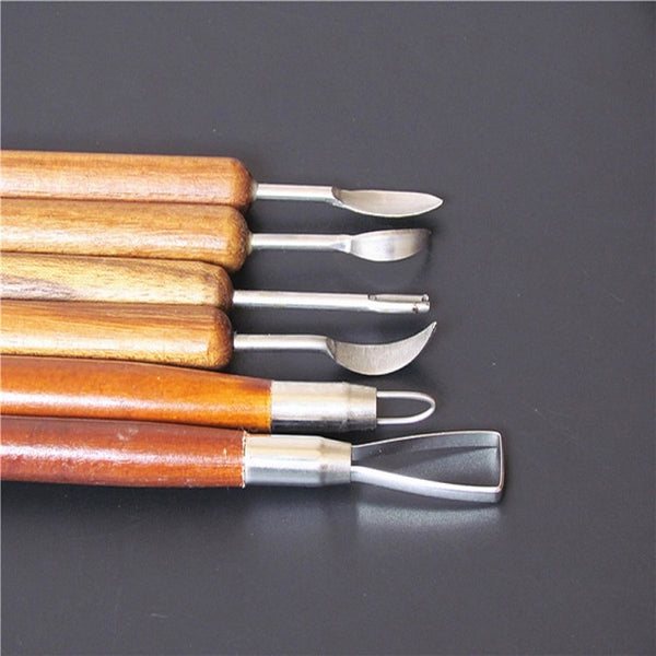 Ceramic Clay Pottery Modeling and Carving Tools Wood - Go Steampunk