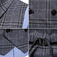 Plaid Formal Double Breasted Vest - Go Steampunk