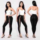 Sexy Woman High Waist Skinny Hollow Out Leggings