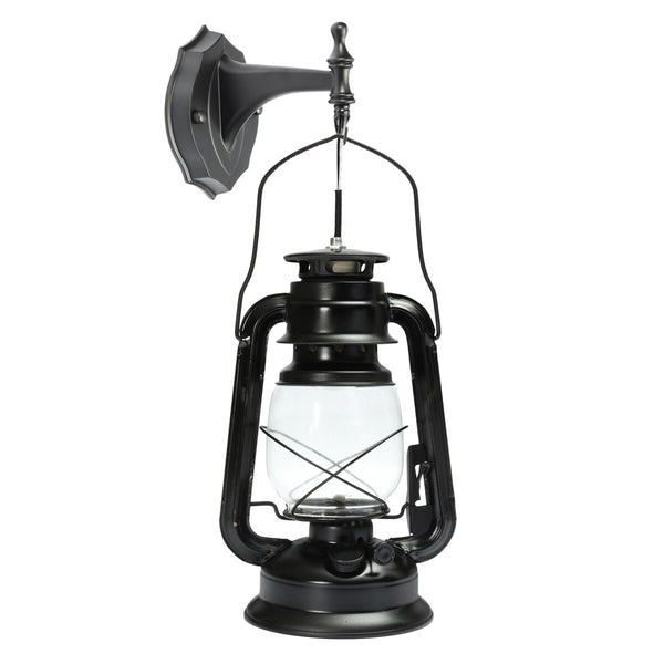 Rustic Antique Style Lantern Wall Lamp Black / China - Go Steampunk