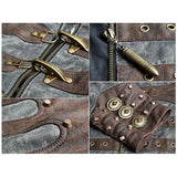 Steam Punk and Rivets Spliced Style Stand Collar Jacket