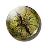 Steampunk Compass Fridge Magnet B - Go Steampunk