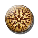 Steampunk Compass Fridge Magnet I - Go Steampunk