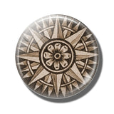 Steampunk Compass Fridge Magnet D - Go Steampunk