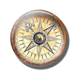 Steampunk Compass Fridge Magnet K - Go Steampunk
