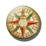 Steampunk Compass Fridge Magnet F - Go Steampunk