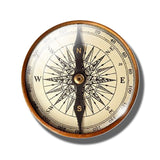 Steampunk Compass Fridge Magnet A - Go Steampunk