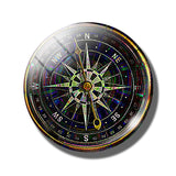 Steampunk Compass Fridge Magnet G - Go Steampunk