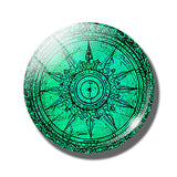 Steampunk Compass Fridge Magnet E - Go Steampunk