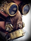 Steampunk Gas Mask and Goggles - Go Steampunk