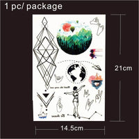 Geometric and Other Temporary Tattoos 9 Designs T1808 - Go Steampunk