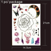 Geometric and Other Temporary Tattoos 9 Designs T1807 - Go Steampunk