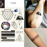 Geometric and Other Temporary Tattoos 9 Designs - Go Steampunk