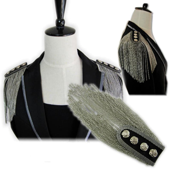 Metal Tassel Shoulder Epaulette - Go Steampunk