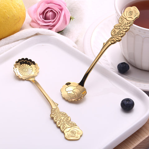 Mini Peony Teaspoon/Dessert Spoon