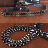Genuine Leather Bullet Belt