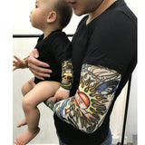 Long Sleeve Tattoo Print Baby Romper - Go Steampunk