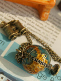 Personality Vintage Miniature Binoculars Global Travel Necklace - Go Steampunk