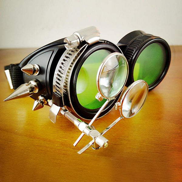 Steampunk Round Spiked Goggles