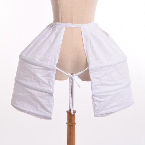 White Underskirt Ladies Crinoline White / One Size / Victorian Period - Go Steampunk