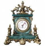 Vintage European style table clock blue - Go Steampunk