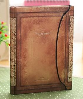 Vintage Notebook with Magnetic Closure