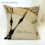 Vintage Phonograph Sewing Machine Clock Cushion Cover 450mm*450mm / 13 - Go Steampunk
