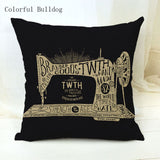 Vintage Phonograph Sewing Machine Clock Cushion Cover 450mm*450mm / 9 - Go Steampunk