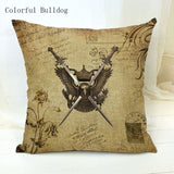 Vintage Phonograph Sewing Machine Clock Cushion Cover 450mm*450mm / 5 - Go Steampunk