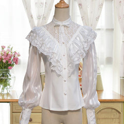 Vintage Royal Chiffon Blouse