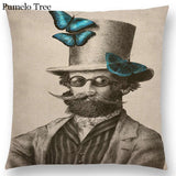 Vintage Style Prints Throw Pillow Case
