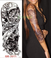 Full Mechanical Arm Waterproof Temporary Tattoo Mixed Color - Go Steampunk