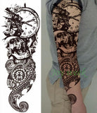 Full Mechanical Arm Waterproof Temporary Tattoo Light Yellow - Go Steampunk