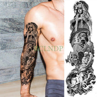 Full Mechanical Arm Waterproof Temporary Tattoo Plum - Go Steampunk
