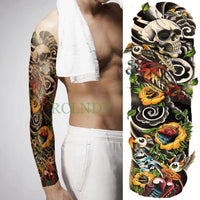 Full Mechanical Arm Waterproof Temporary Tattoo Purple - Go Steampunk
