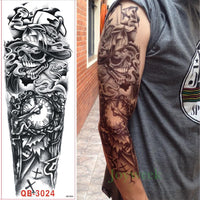 Full Mechanical Arm Waterproof Temporary Tattoo - Go Steampunk