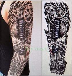 Full Arm Waterproof Temporary Tattoo - Go Steampunk