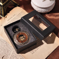 Wooden Skeleton Pocket Watch - Go Steampunk