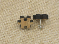Laser Cut Puzzle Studs Post Earrings - Go Steampunk
